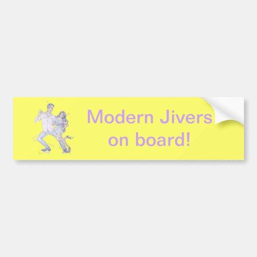 Moderno Jive a los bailarines de Ceroc Pegatina De Parachoque