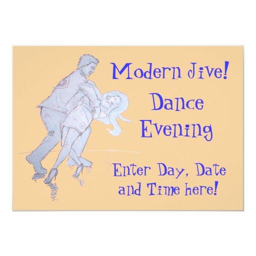 """Moderno Jive a los bailarines de la competencia de Invitación 5"""" X 7"""""""