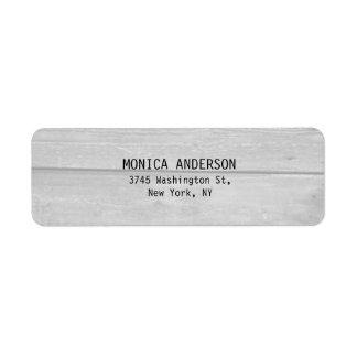Moderno llano de madera gris elegante bonito etiquetas de remite