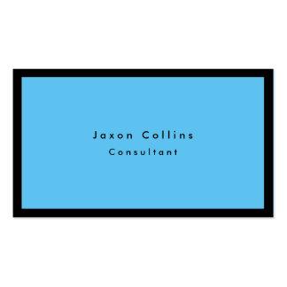 Moderno minimalista azul de la frontera negra tarjetas de visita