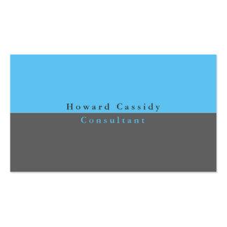 Moderno minimalista azul gris elegante llano tarjetas de visita
