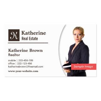 Moderno, monograma, agente inmobiliario, tarjetas de visita