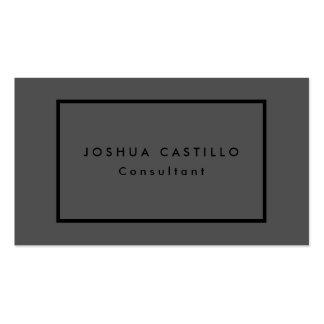Moderno negro gris elegante llano simple tarjetas de visita