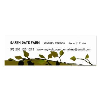 Moderno orgánico de las ramas tarjeta de negocio