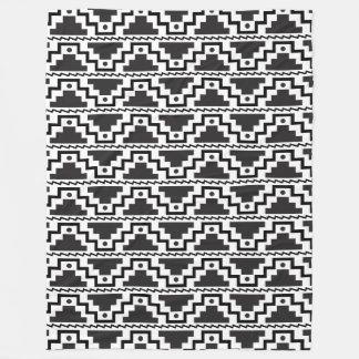 Moderno primitivo blanco del paso del negro azteca manta polar
