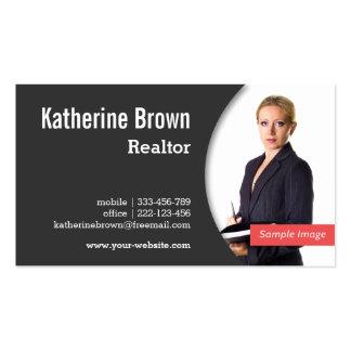 Moderno, profesional, agente inmobiliario, propied plantillas de tarjetas de visita