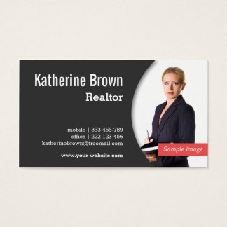 Moderno, profesional, agente inmobiliario, tarjeta de negocios
