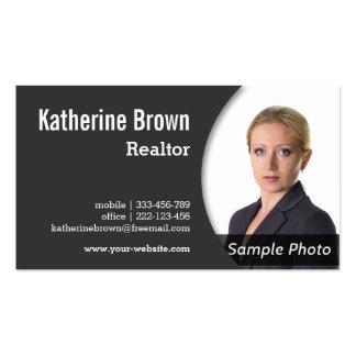 Moderno, profesional, agente inmobiliario, tarjetas de visita
