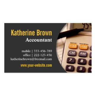 Moderno, profesional, contable, impuesto, calculad plantillas de tarjetas personales
