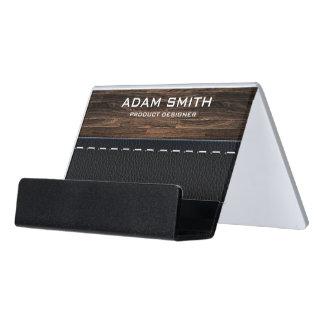 Moderno profesional de la mirada de madera y del caja de tarjetas de visita para escritorio