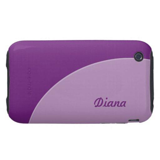 Moderno púrpura simple tough iPhone 3 carcasas