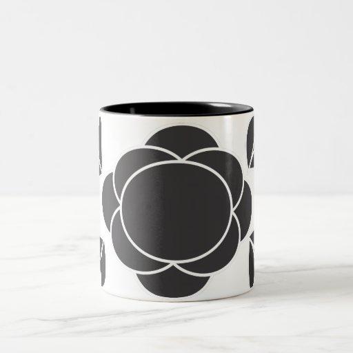 Moderno retro en negro tazas de café