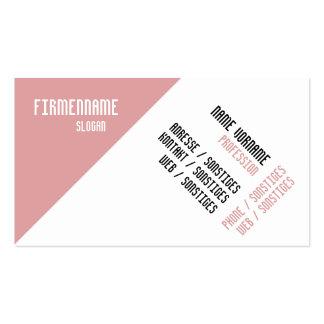 Moderno rosa tarjetas de visita