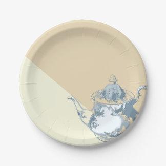 Moderno se ruboriza el fiesta de encargo de la platos de papel