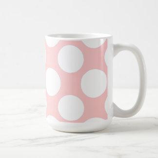 Moderno se ruboriza el modelo de lunares blanco ro taza de café