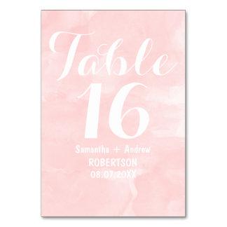 Moderno se ruboriza el número rosado de la tabla