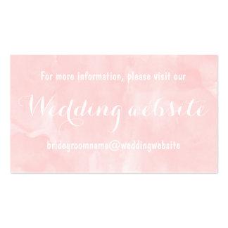Moderno se ruboriza el Web site rosado del boda de Tarjetas De Visita