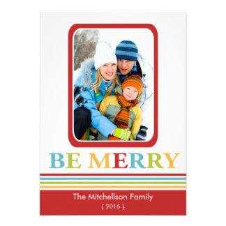 Moderno SEA tarjeta plana de las Felices Navidad