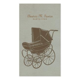 Moderno simple del carro de bebé del vintage que tarjetas de visita
