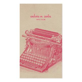 Moderno simple rosado fresco de la máquina de tarjetas de visita