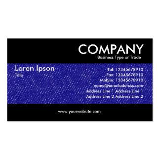Moderno - textura azul del dril de algodón tarjetas de visita