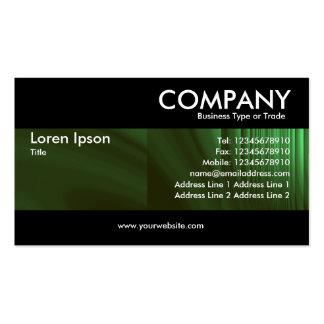 Moderno - verde de botella tarjetas de visita