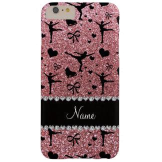 Moderno y de moda patinaje artístico el rosa en funda barely there iPhone 6 plus