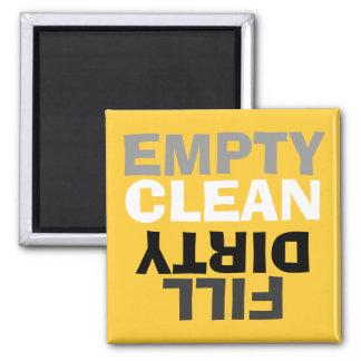 Modernos retros limpian/imán sucio del lavaplatos