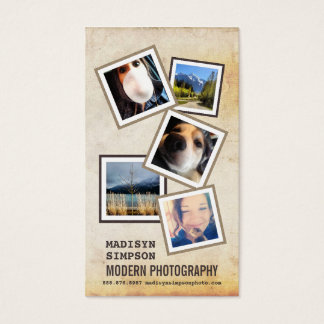 ModernPhotographer with 5 Sample Photos Business Card