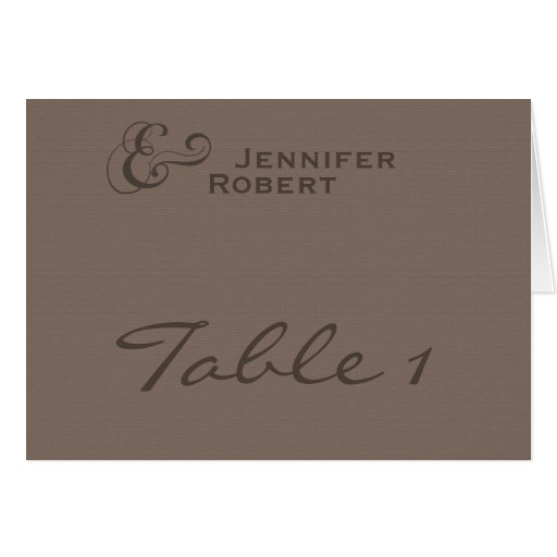 ModernTweed in Charcoal Table Number card