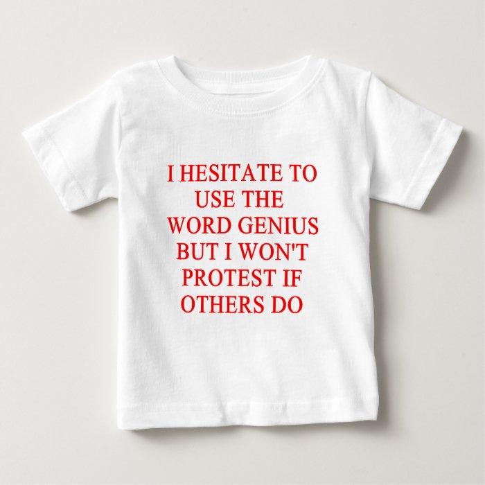 modest genius joke baby T-Shirt