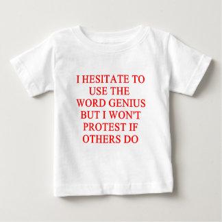 modest genius joke tee shirt