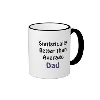 Modest praise for dad ringer coffee mug