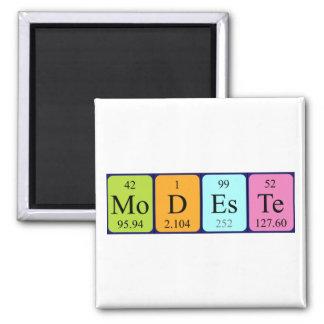 Modeste periodic table name magnet