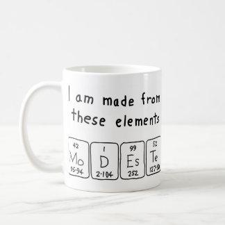 Modeste periodic table name mug
