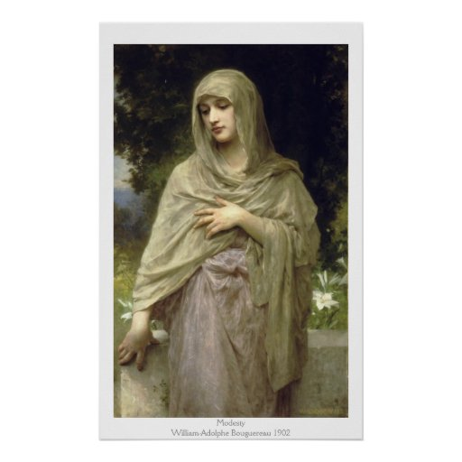Modestia - William-Adolphe Bouguereau Póster