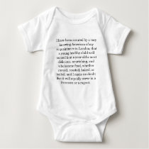 modestly proposed baby clothes baby bodysuit