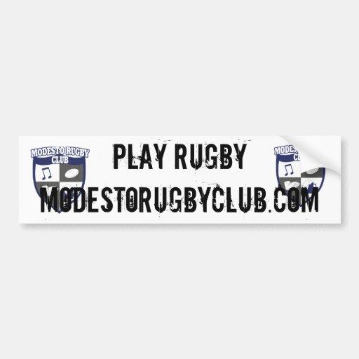 Modesto rugby bumper sticker car bumper sticker