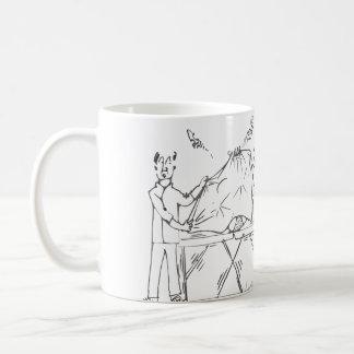 Modesty and massage coffee mug