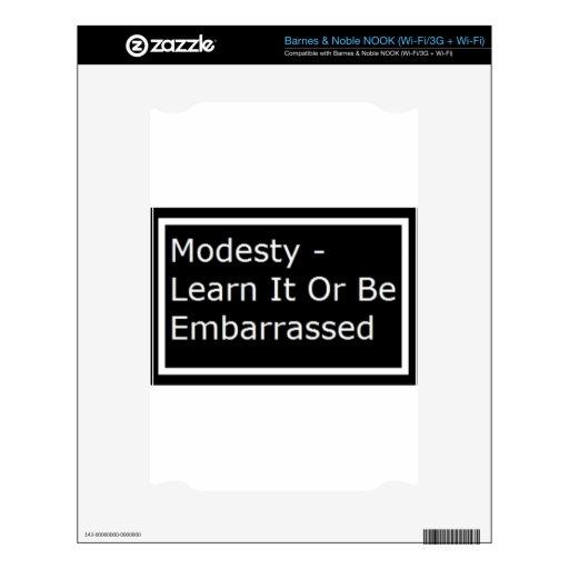 Modesty.jpg Calcomanía Para El NOOK