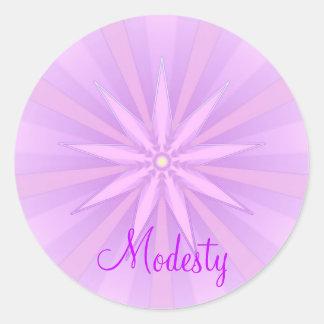 Modesty(Virtue sticker) Classic Round Sticker