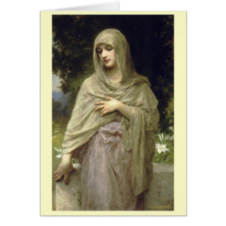 Modesty - William-Adolphe Bouguereau Card