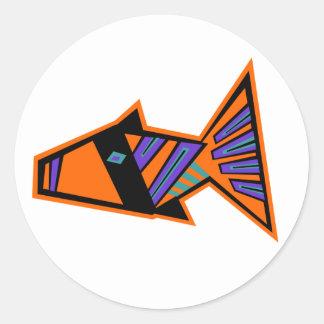 Modfish Classic Round Sticker