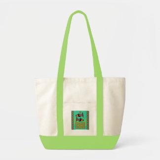 Modfish en bolso verde bolsa lienzo