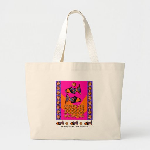 Modfish On Pink with Label Bag
