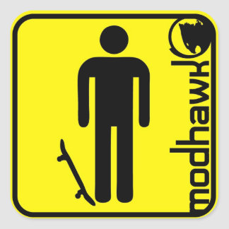 modhawk yellow square sticker