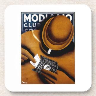 Modiano Cigarette Ad Drink Coaster