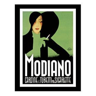 Modiano Cigarette Ad Post Cards