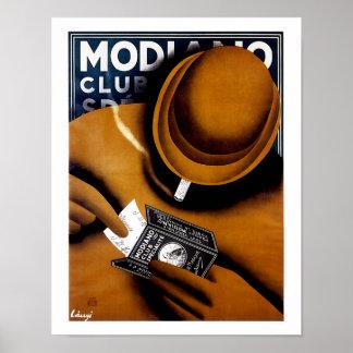 Modiano Cigarette Ad Poster