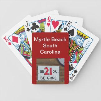 modificado para requisitos particulares jugando el baraja de cartas bicycle